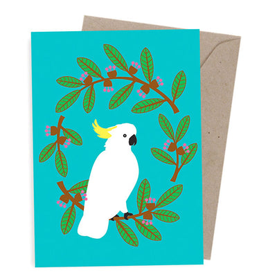 Corporate Christmas Cards Australia - Cockatoo Wreath