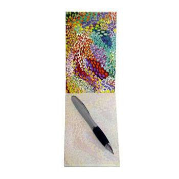 Australian Made Gifts & Souvenirs with the Small Notepad Artist Janelle Stockman -by Utopia. For the best Australian online shopping for a Note Pads