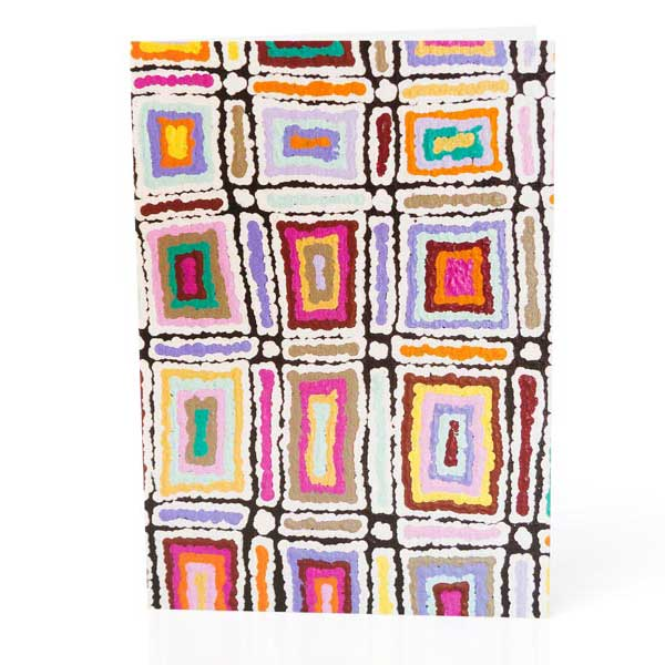 Aboriginal Art Gifts Online - Greeting Card Lynette Signleton