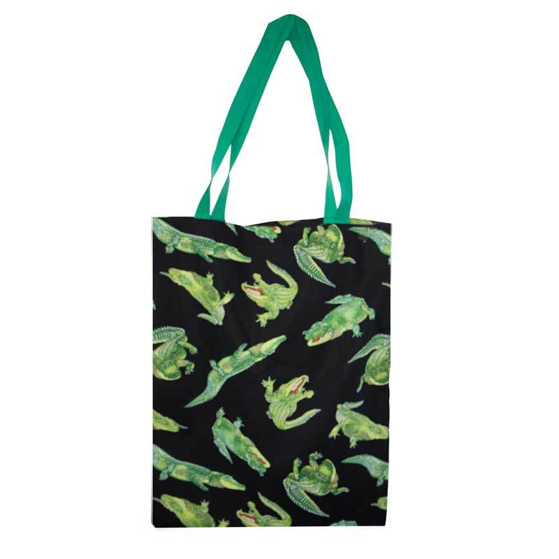 Reusable shopping bag Made in Australia fun Crocodile print