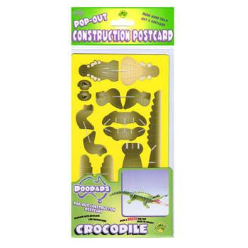 Australian Made Gifts & Souvenirs with the Crocodile 3D Construction Postcard -by Odd Ball. For the best Australian online shopping for a Accessories - 3