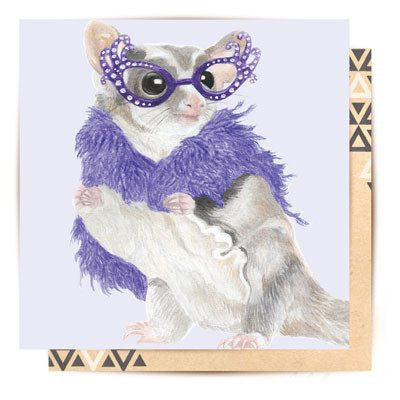 Australian Made Gifts & Souvenirs with the Hello Possums Greeting Card -by La La Land. For the best Australian online shopping for a Greeting Cards