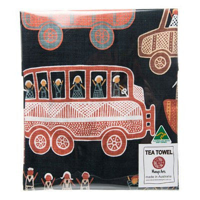 Australian Made Gifts & Souvenirs with the Off to the Footy Tea Towel -by Alperstein Designs. For the best Australian online shopping for a Tea Towels - 2