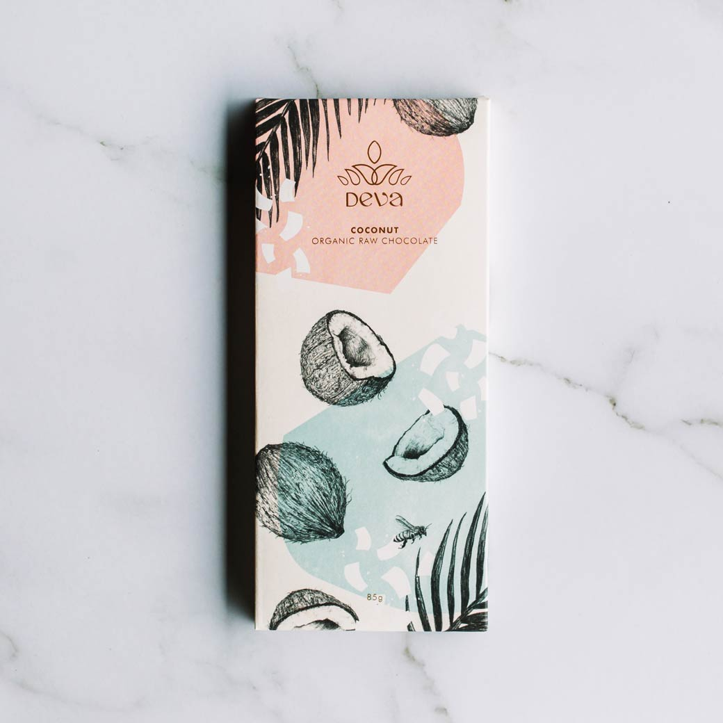 Deva Cocao Organic Australian Made Raw Coconut Chocolate