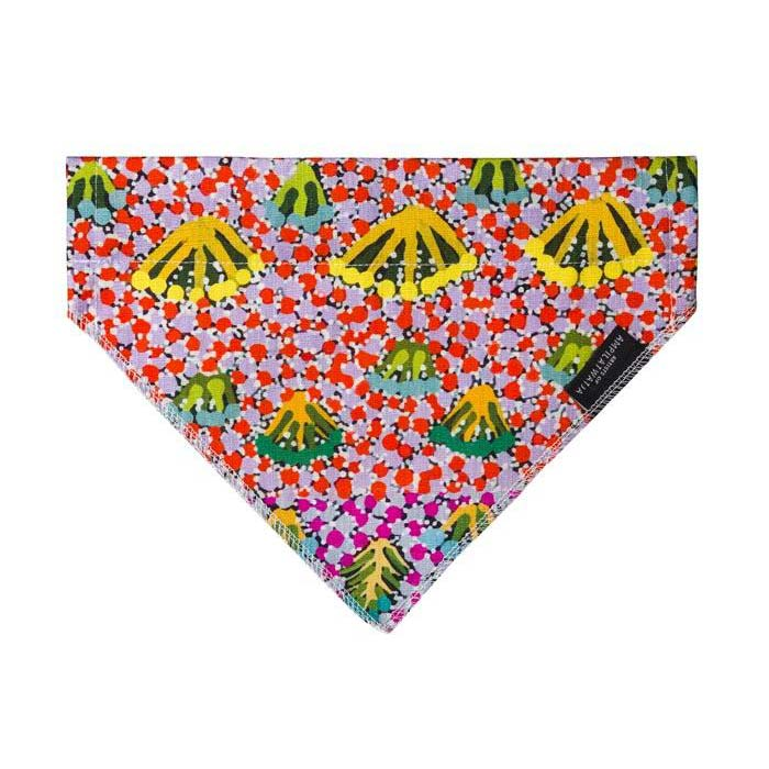 Dog Fashion Accessories Bandana Australian Made Aboriginal Art Daisy Moss