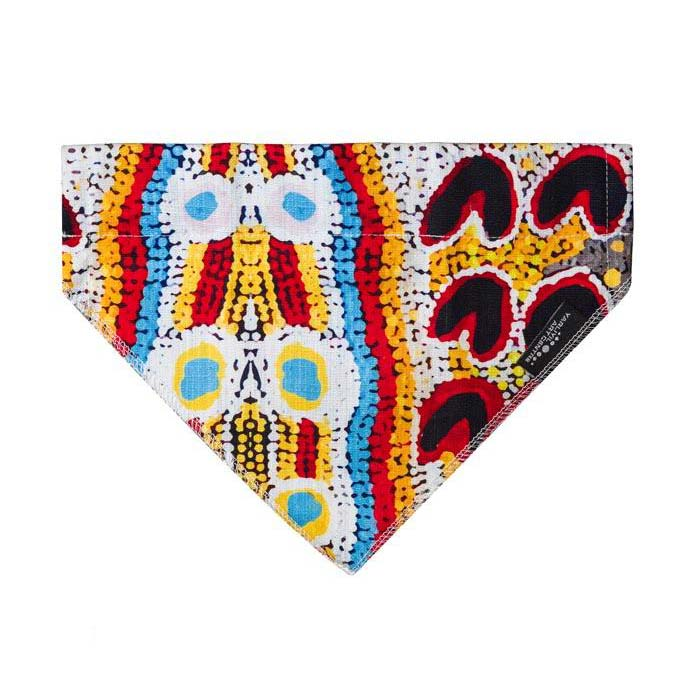 Dog Accessories Fashionable Bandana Australian Made Aboriginal Art Elaine Lane Rosie La La