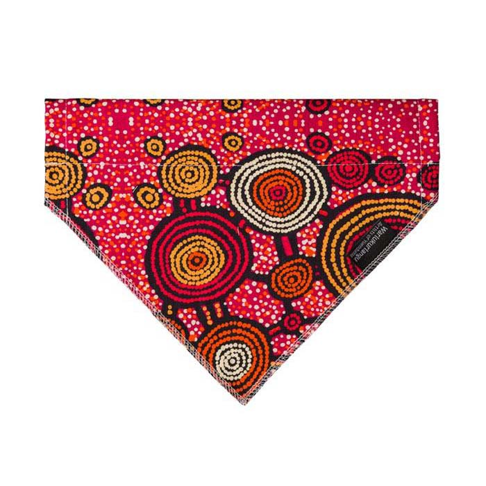 Dog Accessory Bandana Australian Made Aboriginal Art Teddy Gibson