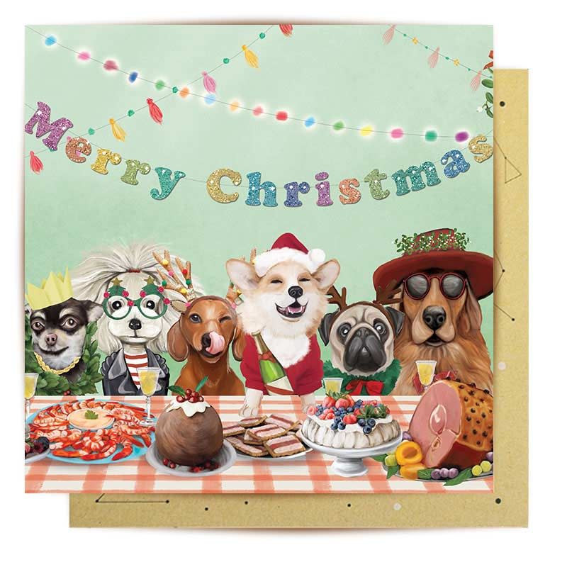 Dog Lovers Christmas Greeting Card - Merry Christmas from Australia