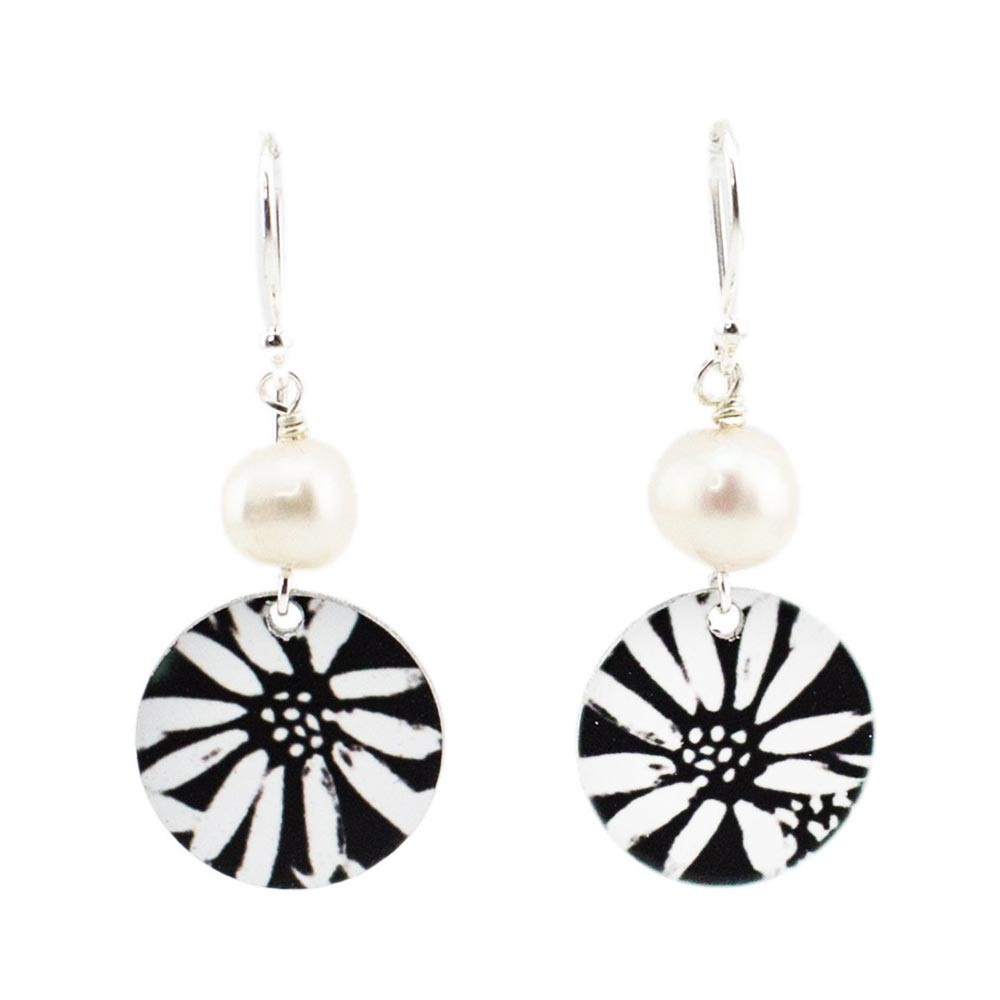 Gifts for Her Australia Handmade Pearl & Silver Earrings