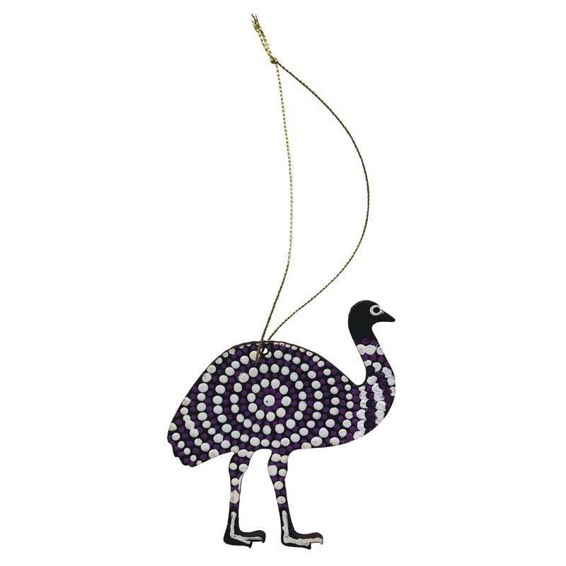 Australian Emu Decorations Handpainted