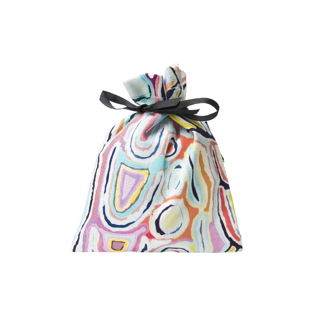 Eco friendly drawstring re-usable gift bags for Christmas - Judy Watson