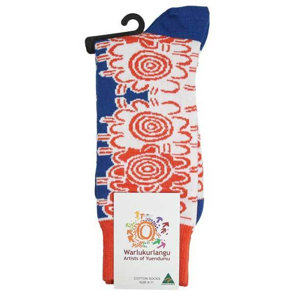 Frank Japanangka Aboriginal Artwork Socks
