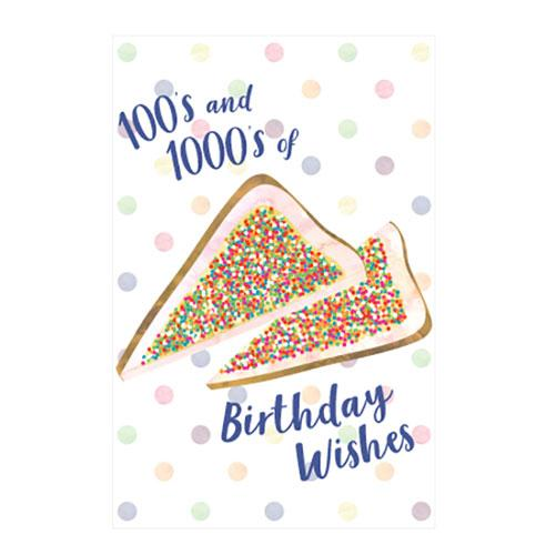 Fairy Bread Wishes Birthday Greeting Card
