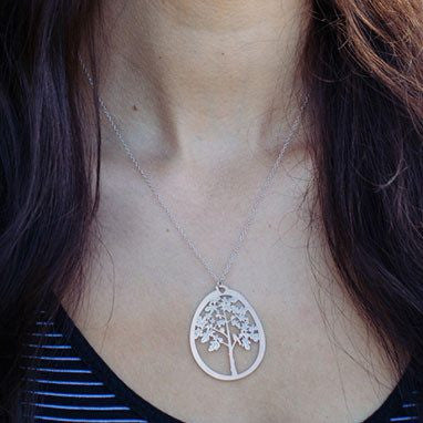 Australian Made Gifts & Souvenirs with the Fig Tree Pendant Necklace -by Polli. For the best Australian online shopping for a Jewellery - 2