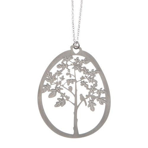 Fig Tree Pendant Necklace