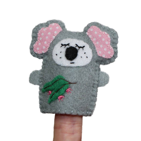 Australian Made Gifts & Souvenirs with the Koala Finger Puppet -by Razzle Dazzle. For the best Australian online shopping for a Fun - 1