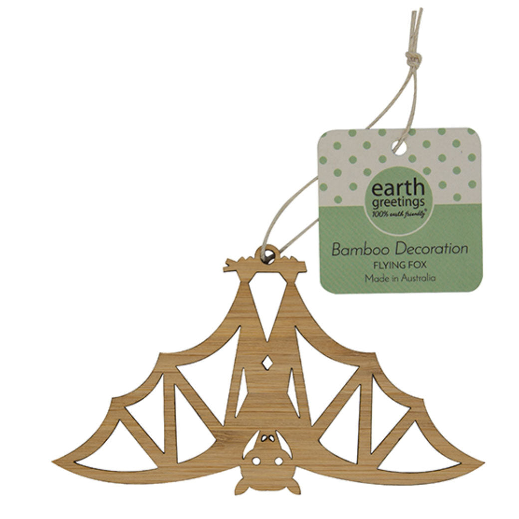 Australian Made Bat Decoration - Flying Fox by Earth Greetings