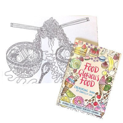 Australian Made Gifts & Souvenirs with the Food Glorious Food Colouring In Book -by La La Land. For the best Australian online shopping for a Colouring In