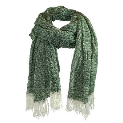 Australian Made Gifts & Souvenirs with the Forest Green Merino Loose Weave Scarf -by The Spotted Quoll. For the best Australian online shopping for a Scarves - 2