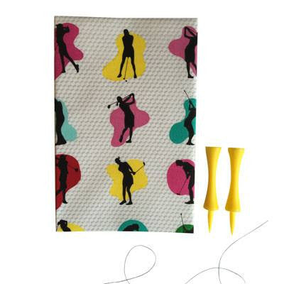 Australian Made Gifts & Souvenirs with the Golf Shots Handkerchief -by Hanky Fever. For the best Australian online shopping for a Handkerchief