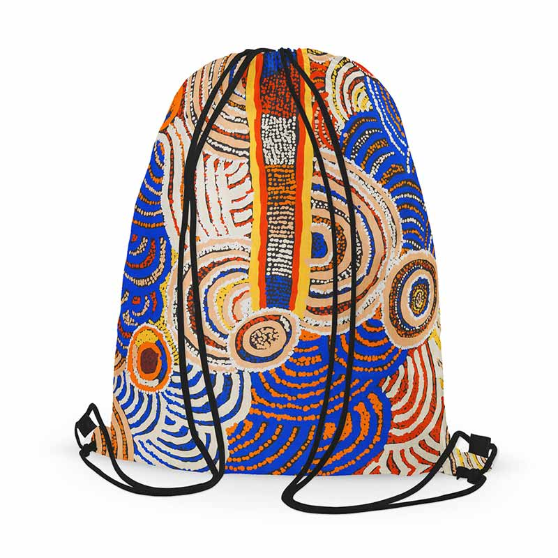 Papulankutja Artists Aboriginal Gifts - Drawstring Backpack Made in Australia