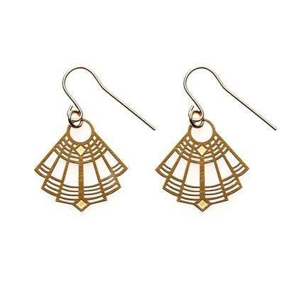 Australian Made Gifts & Souvenirs with the Gold Gigi Earrings -by Polli. For the best Australian online shopping for a Earrings