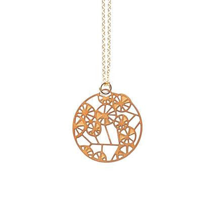Australian Made Gifts & Souvenirs with the Wattle Gold Pendant -by Polli. For the best Australian online shopping for a Jewellery - 3