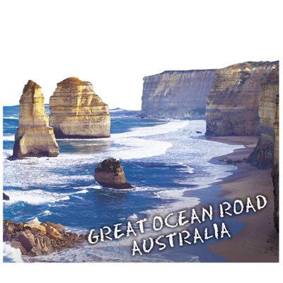 Australian Made Gifts & Souvenirs with the Great Ocean Road Magnet -by Visit Merchandise. For the best Australian online shopping for a Magnets