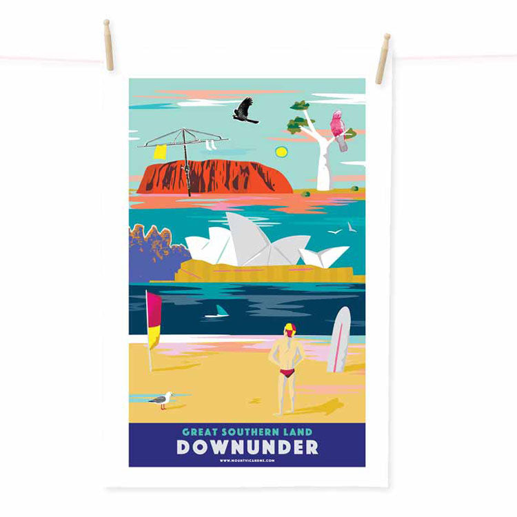 Great-Southern-Land-Down-Under-Australian-Made-tea-towel