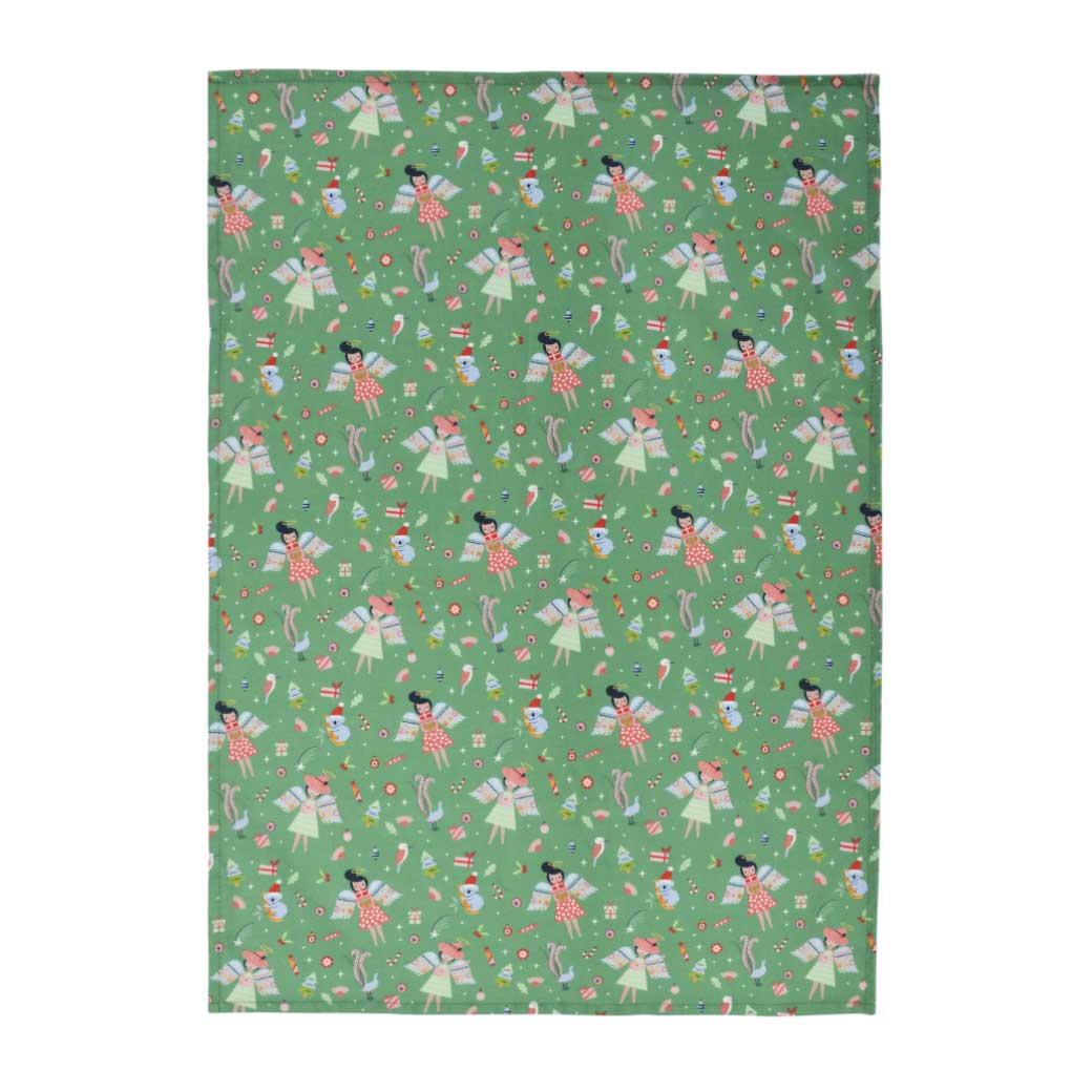 Christmas Tea Towel - Green