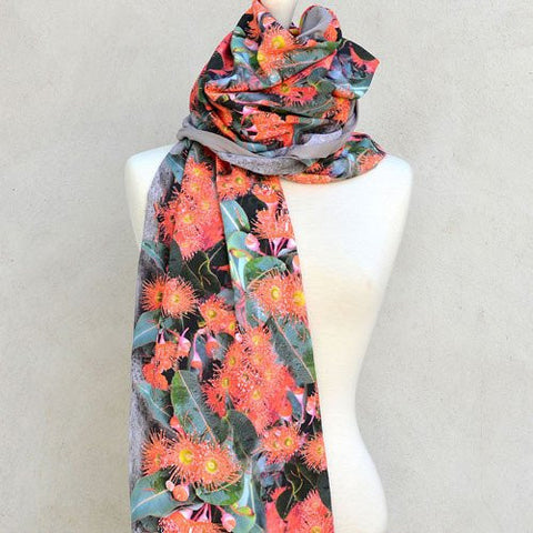 Australiana gifts for women gum blossom scarf
