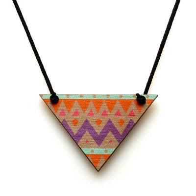 Australian Made Gifts & Souvenirs with the Halycon Triangle Pendant -by Polli. For the best Australian online shopping for a Jewellery - 1