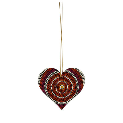 Aboriginal Art Heart Decorations