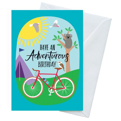 Australian made greeting cards online at bits of australia adventurous birthday greeting card m4hsunfo Gallery