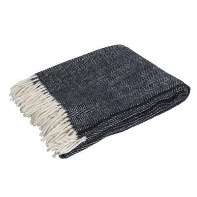 Australian Made Gifts & Souvenirs with the Black Herringbone Merino Scarf -by Bits of Australia. For the best Australian online shopping for a Scarves - 1