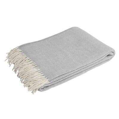 Australian Made Gifts & Souvenirs with the Grey Herringbone Merino Scarf -by Waverley Mills. For the best Australian online shopping for a Scarves - 1