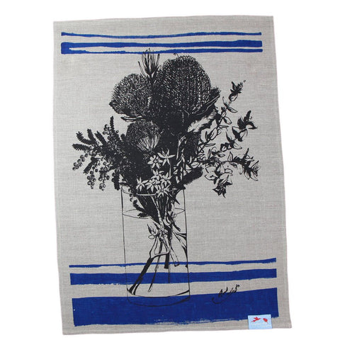 Australian Made Gifts & Souvenirs with the Bush Flower Essence Tea Towel -by Laughing Bird. For the best Australian online shopping for a Tea Towels - 1