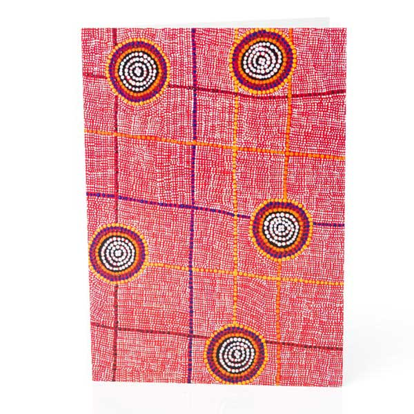 Warlukurlangu Aboriginal Art Greeting Card
