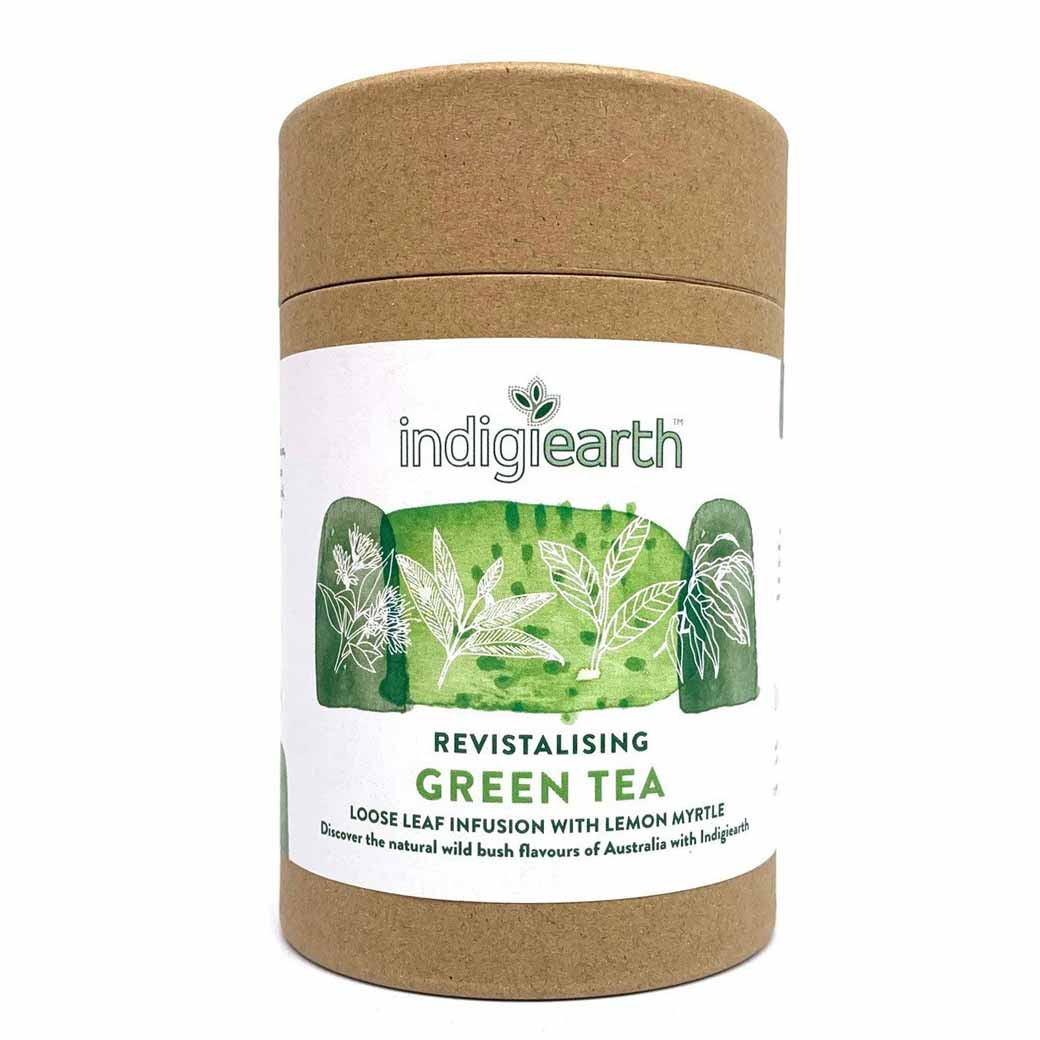 Indigiearth Green Tea With Lemon Myrtle Australian Gourmet Food Gifts