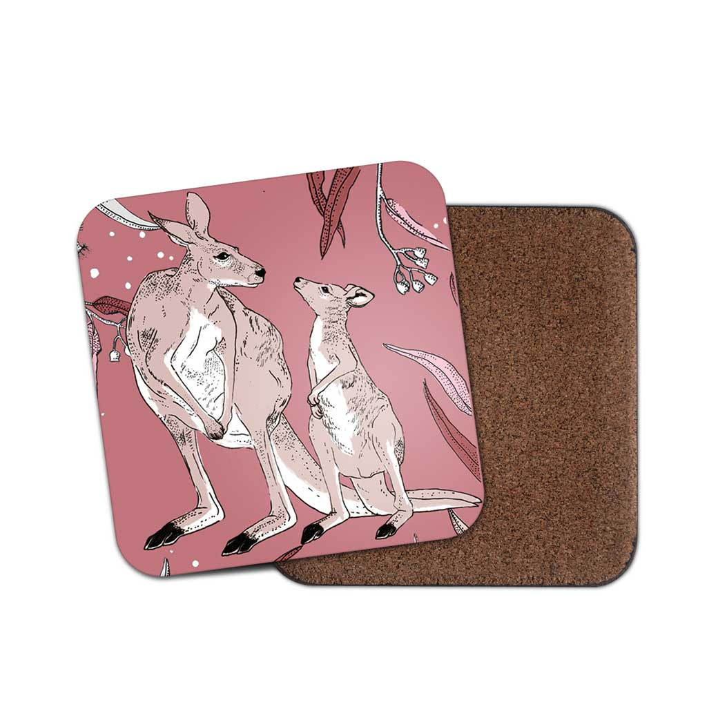 Kangaroo Gift Australia - Cork backed Coasters