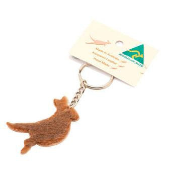 Australian Made Gifts & Souvenirs with the Roo Fur Keyring -by Gamagon. For the best Australian online shopping for a Accessories - 1