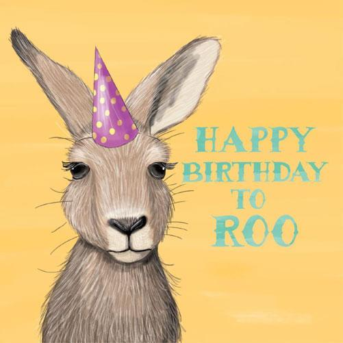 Australian Wedding Gifts For Overseas: Happy Birthday To Roo Greeting Card For Australian