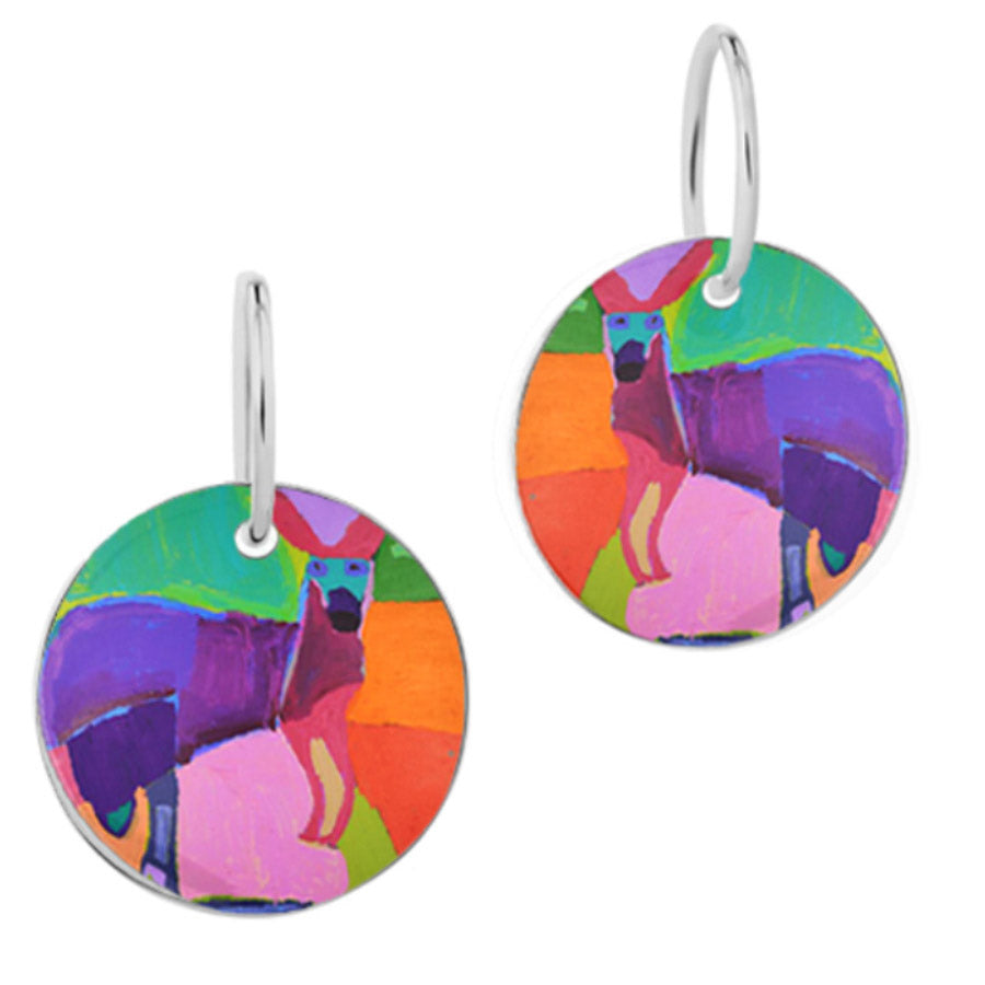 Kangaroo of Yuendumu Earrings
