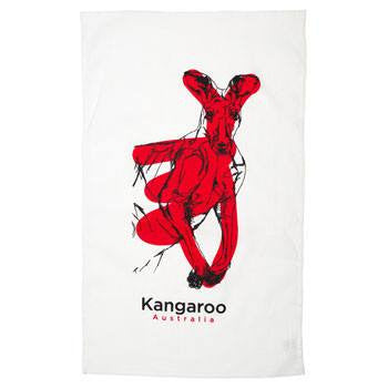 Australian Made Gifts & Souvenirs with the Kangaroo Cotton Tea Towel -by Alperstein Designs. For the best Australian online shopping for a Tea Towels