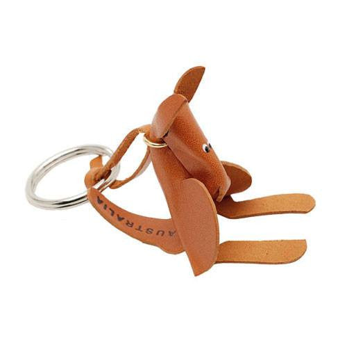 Australian Made Souvenirs with the jumping Kangaroo Leather keyring