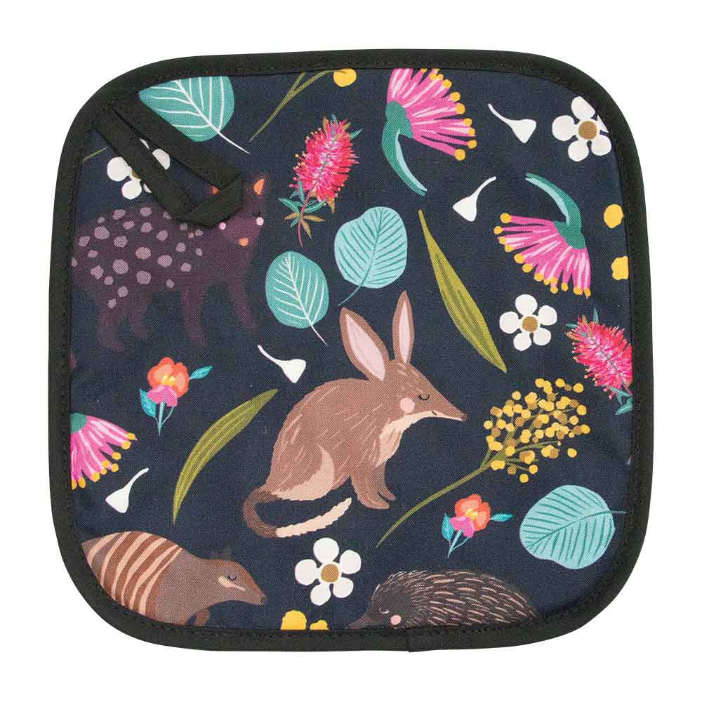 Kitchen Pot Holder Australiana Nocturnal Animals
