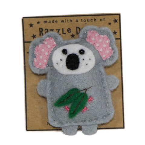 Australian Made Gifts & Souvenirs with the Koala Brooch -by Razzle Dazzle. For the best Australian online shopping for a Fun - 1