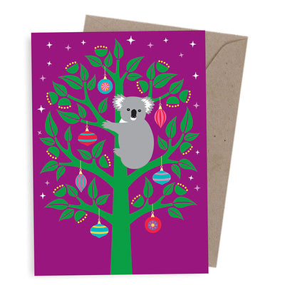 Corporate Christmas Cards Australia - Koala in a Tree