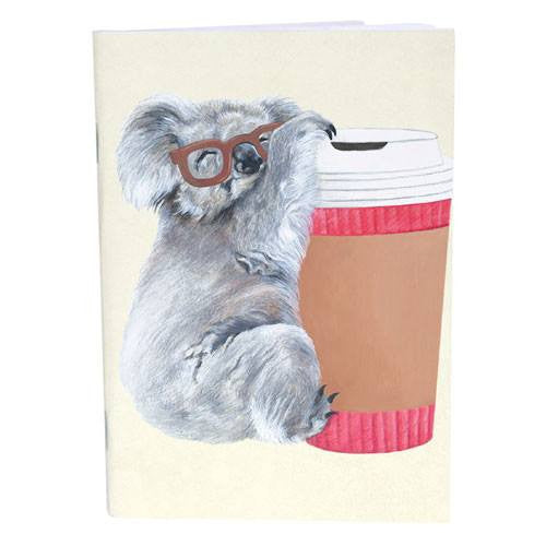 Coffee Addict Koala Notebook for Unique Australiana Gifts Online