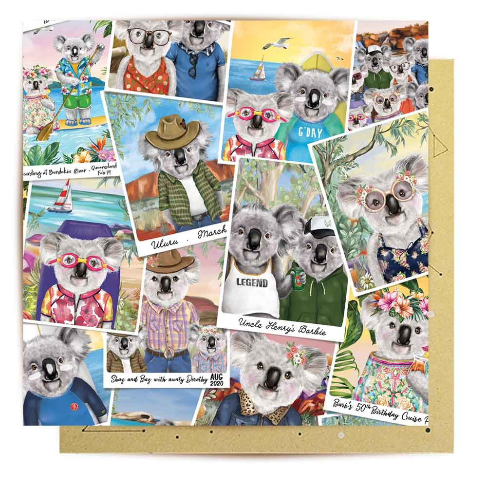 Koala Lover Gifts Australia Greeting Card By La La Land Sydney